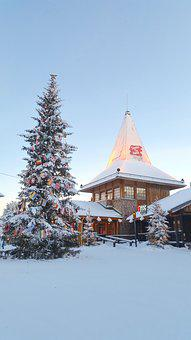 Snow, Winter, Christmas, Village, Lapland, December