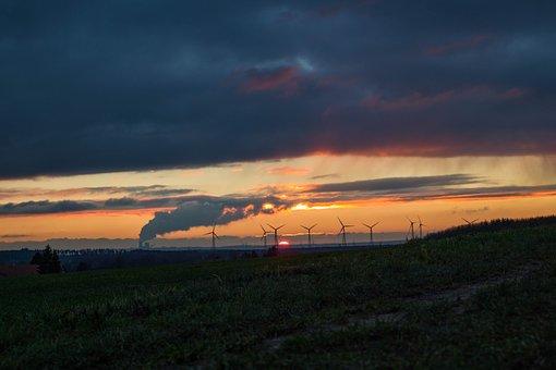Evening Sky, Sunset, Clouds, Sky, Landscape, Scenic