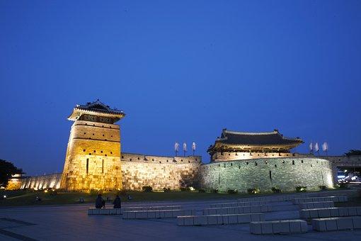 Unesco, Suwon Hwaseong, The, Suwon, Castle