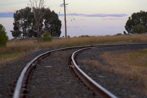 Train Tracks, Railway, Outback, Train, Railroad