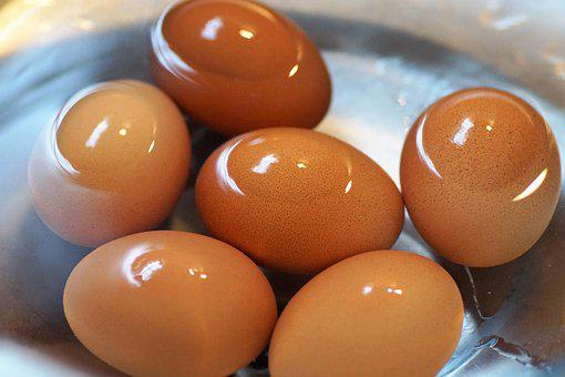Eggs, Brewed, On, Hard-boiled, Cool, In, Water, Cooked