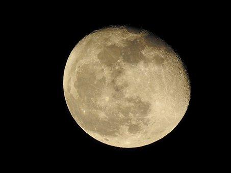 Moon, Holy Night, Christmas Eve, 2018, Night Sky