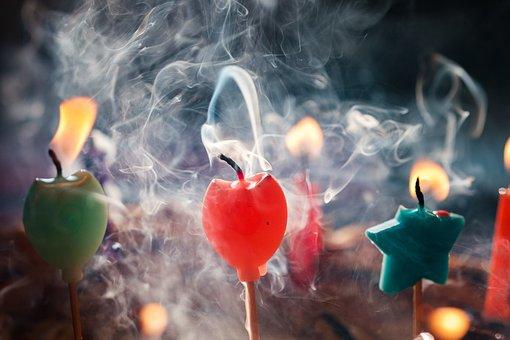 Candles, Smoke, Birthday, Festival, Atmosphere