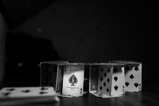House Of Cards, Colosseum, Ace, Black And White