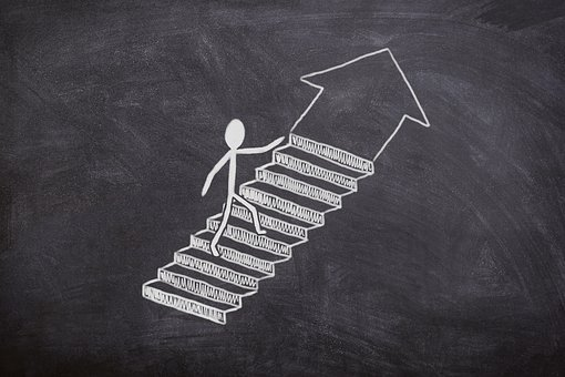 Board, Chalk, Success, Stairs, Business, Work, Job