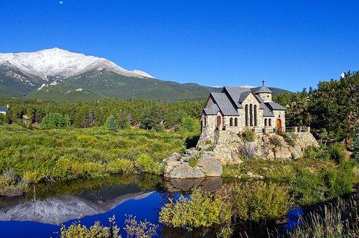 Mountain Chapel On A Rock, Chapel, Church, Rocky