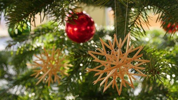 Christmas, Christmas Eve, Strohstern, Christianity