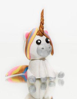 Unicorn, Figurine, Clay, Mystical, Horse, Animal