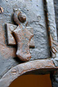 Lock, Door, Old, Entrance, Gate, Antique, Metal, Closed