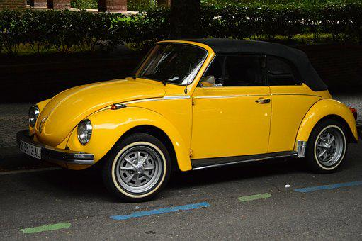 Auto, Color, Yellow, Classic, Vehicle, Nostalgic