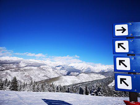 The Rockies, Mountains, Colorado, Winter, Ski Slopes