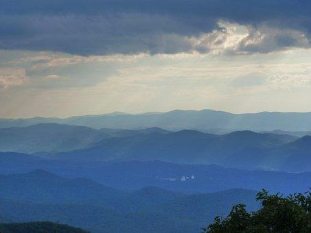 Mountain, Clouds, Light, Dark Clouds, Mountain Range