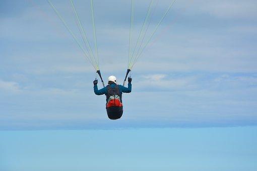 Paragliding, Paraglider, Fifth Wheel, Sailing, Wing