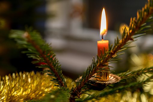 Christmas, Candle, Light, Flame, Heat, Atmosphere, Mood