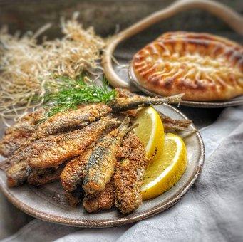 Cheese, Fried Cheese, Karelian Pie, Fish, Fish-meal