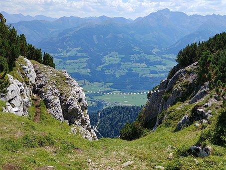 Climbing, Mountains, Panorama, Alpine, Hike, Steep