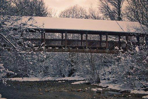 Feistritz, Bridge, Winter, Snow, Nature, Landscape