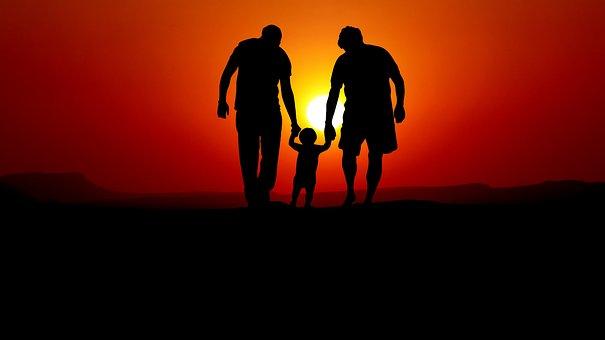 Layer Of The Sun, Couple, Child, Romance, People