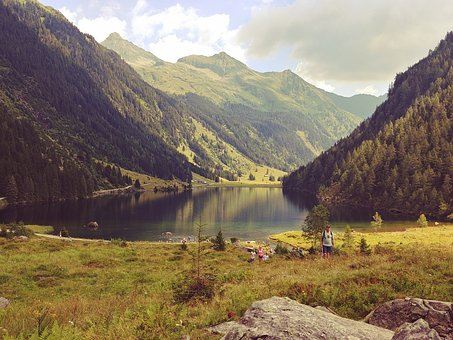 Mountain, Lake, Alpine, Dolomites, Austria, Landscape