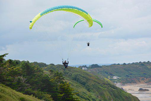 Paragliding, Paraglider, Fifth Wheel, Sailing, Wing