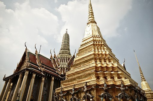 Bangkok, Great Palace, Gold, Places Of Interest