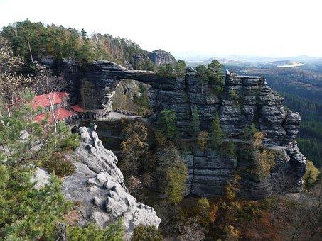 Pravcice Gate, Landscape, Rock, Nature, Gate