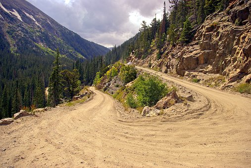 Old Fall River Road, Road, Rocky, Mountain, National