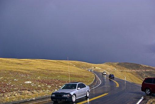 Rocky Mountain High, Dark, Sky, Clouds, Storm, Rocky