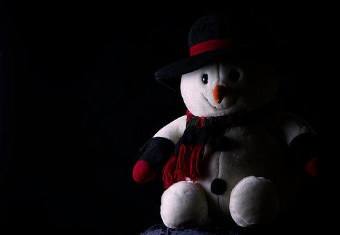 Snowman, Plush, Winter, Cute, Christmas