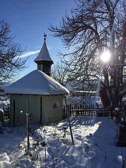 Maranza Meransen, Chapel, South Tyrol, Snow, Dolomites