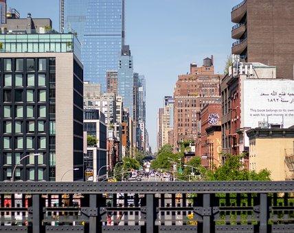 High Line, Street, City Street, Downtown, Nyc