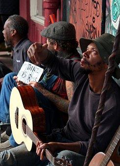 Street Performer, New Orleans, Homeless, Eyes, Music