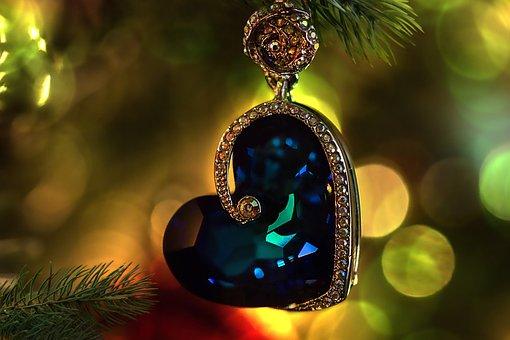 Jewellery, Heart, Trailers, Christmas, Fir Tree, Branch