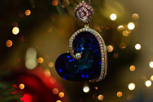 Jewellery, Heart, Trailers, Valentine, Bokeh, Light