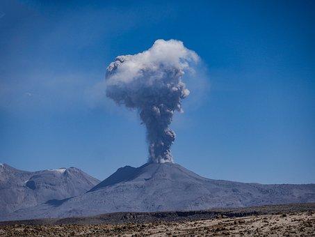 Volcano, Sabancaya, Eruption, Active, Andes, Peru