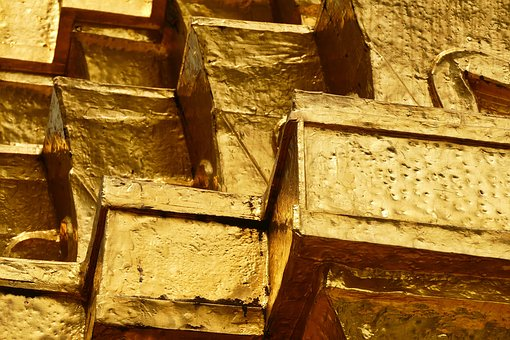 Gold, Brick, Yellow, Wall, Building, Construction