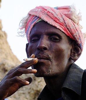 Djibouti, Afar Man, Portrait