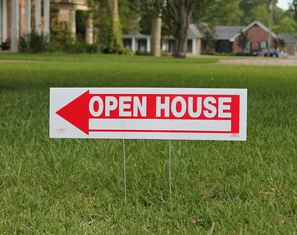 Real Estate, Open House, Home, Property, Sign, Arrow