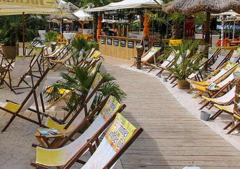 Holiday, Sea, Beach, Bar, Sun, Palm Trees, Sand