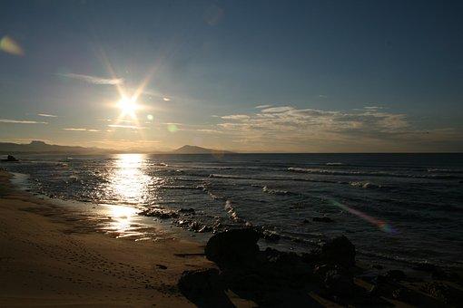 Sun, Beach, Basque Country, Uhabia, Ocean, Biarritz