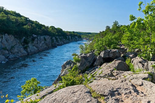 Billy Goat Trail, Pothole Alley, Maryland, River, Gorge
