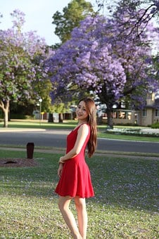 University Student, Small Fresh, Blue Flower Cherry