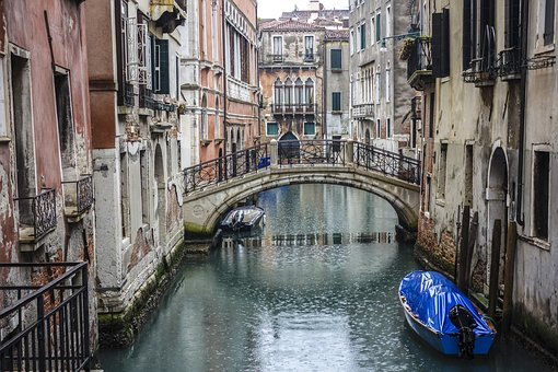 Venice, Bridge, Boats, Water, River, Sea, Italy