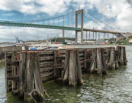 Port, Fixing, Baltic Sea, Gothenburg, Sweden, Bridge