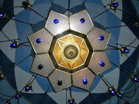 Lamp, Translucent, Arabic, Light, Ceiling