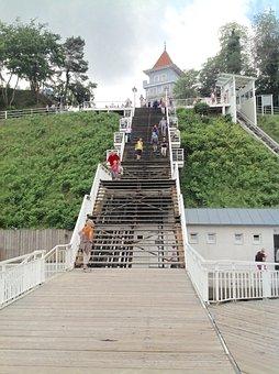 Binz, Stairs, Holiday, Baltic Sea, Rügen, Coast, Island