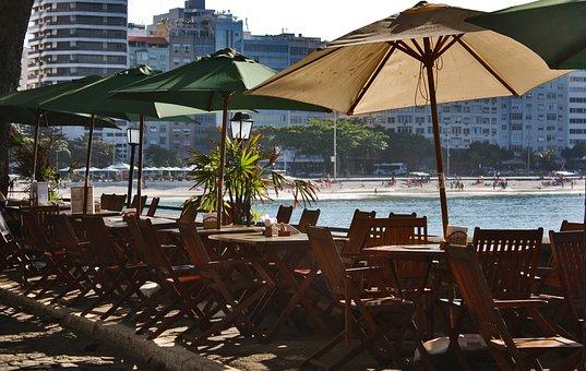 Dawn, Breakfast, Beach, Rio De Janeiro, Copacabana, Day