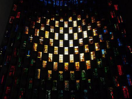Stained, Glass, Coventry, Cathedral, Baptistery