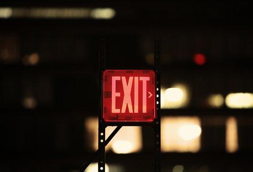 Exit, Sign, Symbol, Emergency, Way, Door, Direction