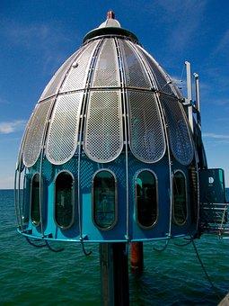 Diving Gondola, Diving Bell, Zingst, Darß, Baltic Sea